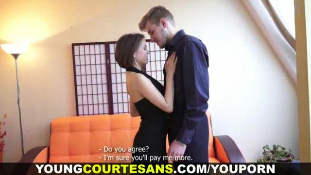 Teen courtesan knows her job